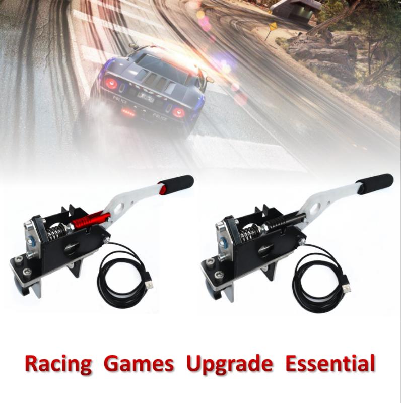 Black Drift Racing Game 2M USB Handbrake Clamp For Logitech G25 G27 G29  T300/500   PolyBull com