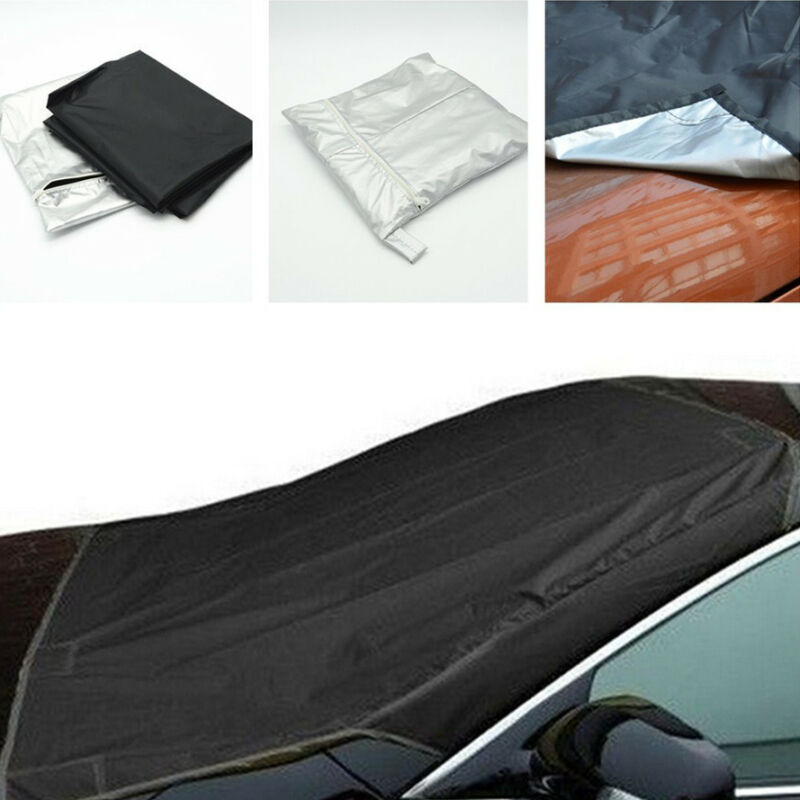 Car SUV Windshield Cover Snow Ice Protector Sun Shield Storage Pouch Tarpaulin