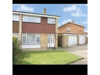 3 bed semi with double drive to garage