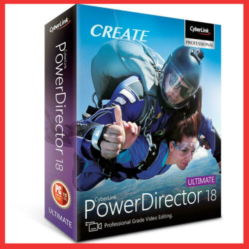 Cyberlink PowerDirector Ultimate 18 Power Video Photo Audio Editing Genuine Full