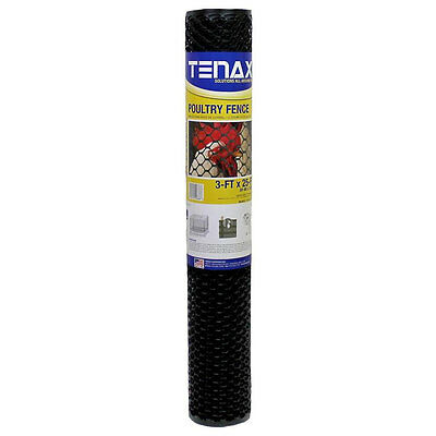 3x25 Tenax Hex Plastic Poultry Netting Fence Chicken Wire Garden Mesh Fencing