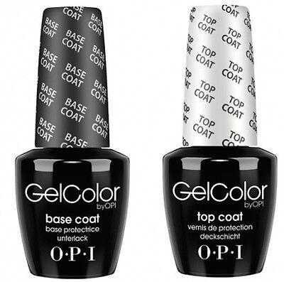 OPI GelColor Soak Off Gel Nail Polish Base & Top Coat Set 15ml/0.5oz
