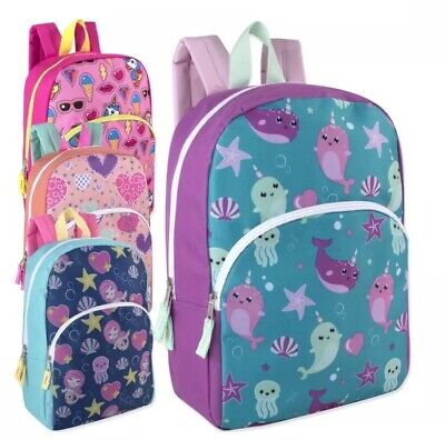 Lot of 24 Wholesale 15 Inch Character Backpacks for Girls in 4 Print - Character Backpacks Wholesale