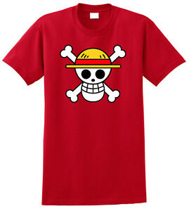 One-Piece-Anime-T-Shirt-Tee-Monkey-D-Luffy-Flag-Cosplay