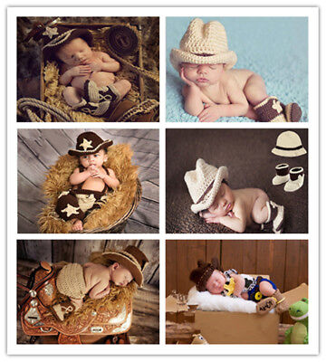 New Born Baby Clothes Soft Cotton outfit Set for infant girls boys cowboy props