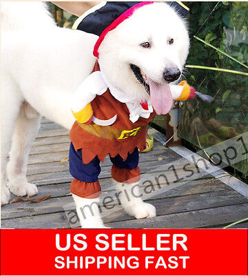 Halloween Costumes Dog Clothes Pirate Captain Pet Apparel Puppy Cat Clothing NEW (Cat Costumes Halloween)