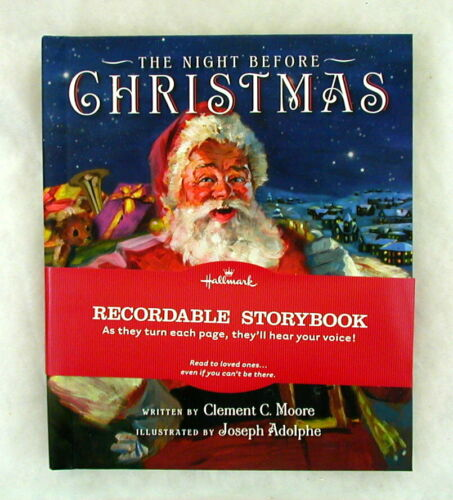 NEW Hallmark The Night Before Christmas RECORDABLE Pop-Up STORY BOOK