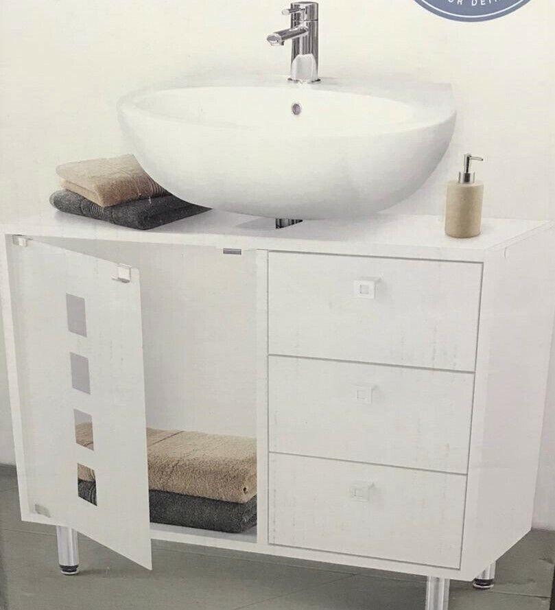 Badezimmerschrank Höhenverstellbar Wasch Becken Unterschrank Badschrank Tisch