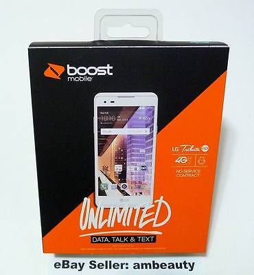 New Boost Mobile Lg Tribute Hd M3 Ls676 4G Lte 5  Andriod 6 0 16Gb 8Mp  White