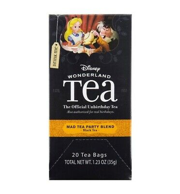 Disney Parks Alice Wonderland Mad Tea Party Blend 20 Tea Bags Box -  NEW Alice Tea Party