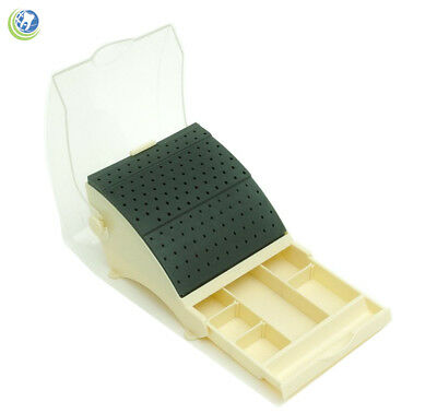 Dental Bur Block Holder Station With Pull Out Drawer - Holds 142 Burs Ra Fg