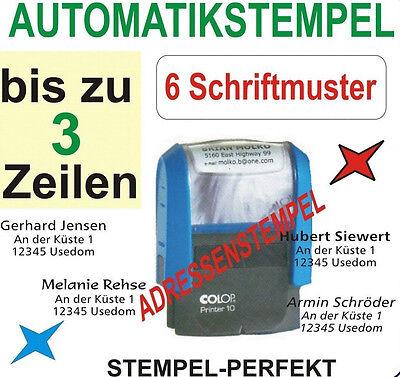 AUTOMATIKSTEMPEL BÜROSTEMPEL ADRESSENSTEMPEL FIRMENSTEMPEL STEMPEL für 3