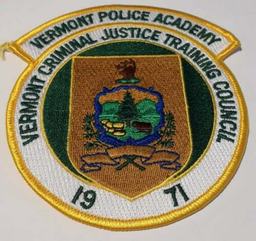 Vermont Police Academy Vermont VT Police Patch Vintage