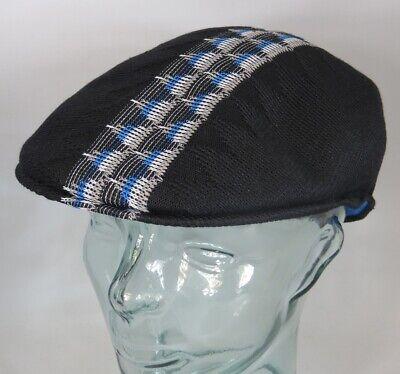 KANGOL Argyle STRIPE 504 Flatcap Ivy Cap Sommermütze Golfcap Mütze schwarz NEU Kangol Stripe