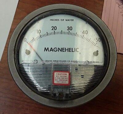 Dwyer Magnehelic Gauge Max. Pressure 15 Psig 2050
