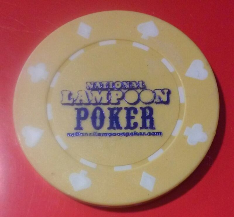NATIONAL LAMPOON YELLOW ADVERTISING POKER CHIP GREAT FOR ANY COLLECTION!