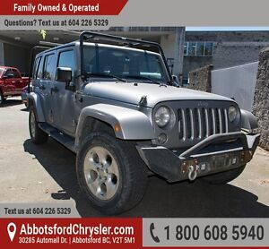 2014 Jeep Wrangler Unlimited Sahara One Owner, Accident free...