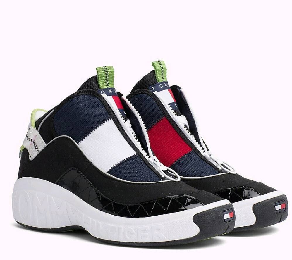0f28aa42ae9 New Tommy Hilfiger Retro Zip Hi Top Trainers