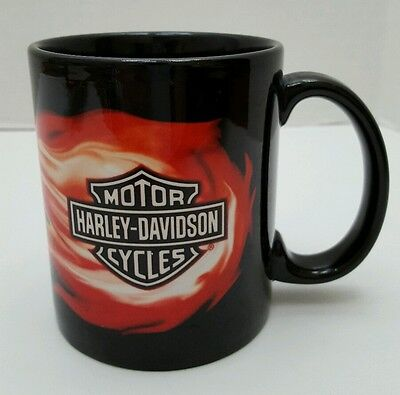 Official Harley Davidson Coffee Mug Cup Red  Flames