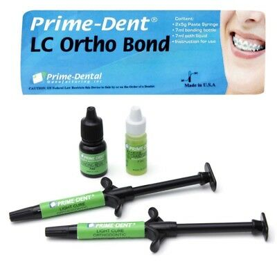 Prime-dent Light Cure Orthodontic Resin Adhesive Ortho Bond Paste Kit - Usa