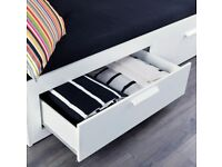 Ikea White Day-bed frame with 2 drawers