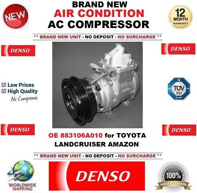 DENSO AIR CONDITIONING AC COMPRESSOR EO 883106A010 for TOYOTA LANDCRUISER AMAZON