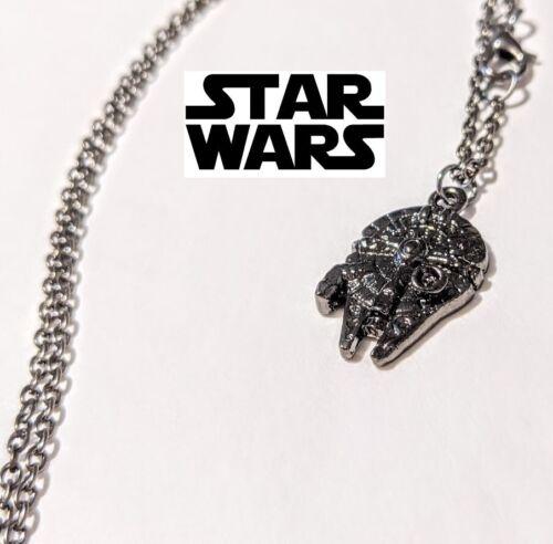 Star Wars Millennium Falcon Pendant necklace Force awakens Jedi mandalorian 65c2