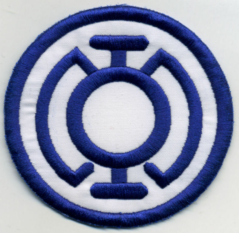 """3.5""""  Blue Lantern Corps Classic Style Embroidered Iron-on Patch"""