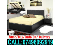 Brand New Single Double King Size Storage Leather Bed Free Delivery