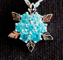 Frozen New SterlingSilver Jewelry Necklace Earrings Set Christmas Helensvale Gold Coast North Preview