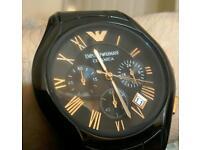 Black & rose gold Emporio Armani Ceramica men's watch