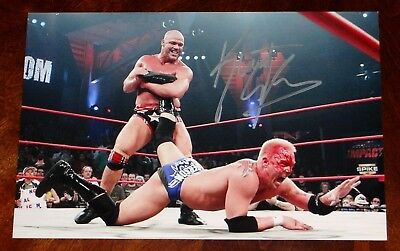 KURT ANGLE WWE HOF TNA SIGNED 8X12 PHOTO!!!