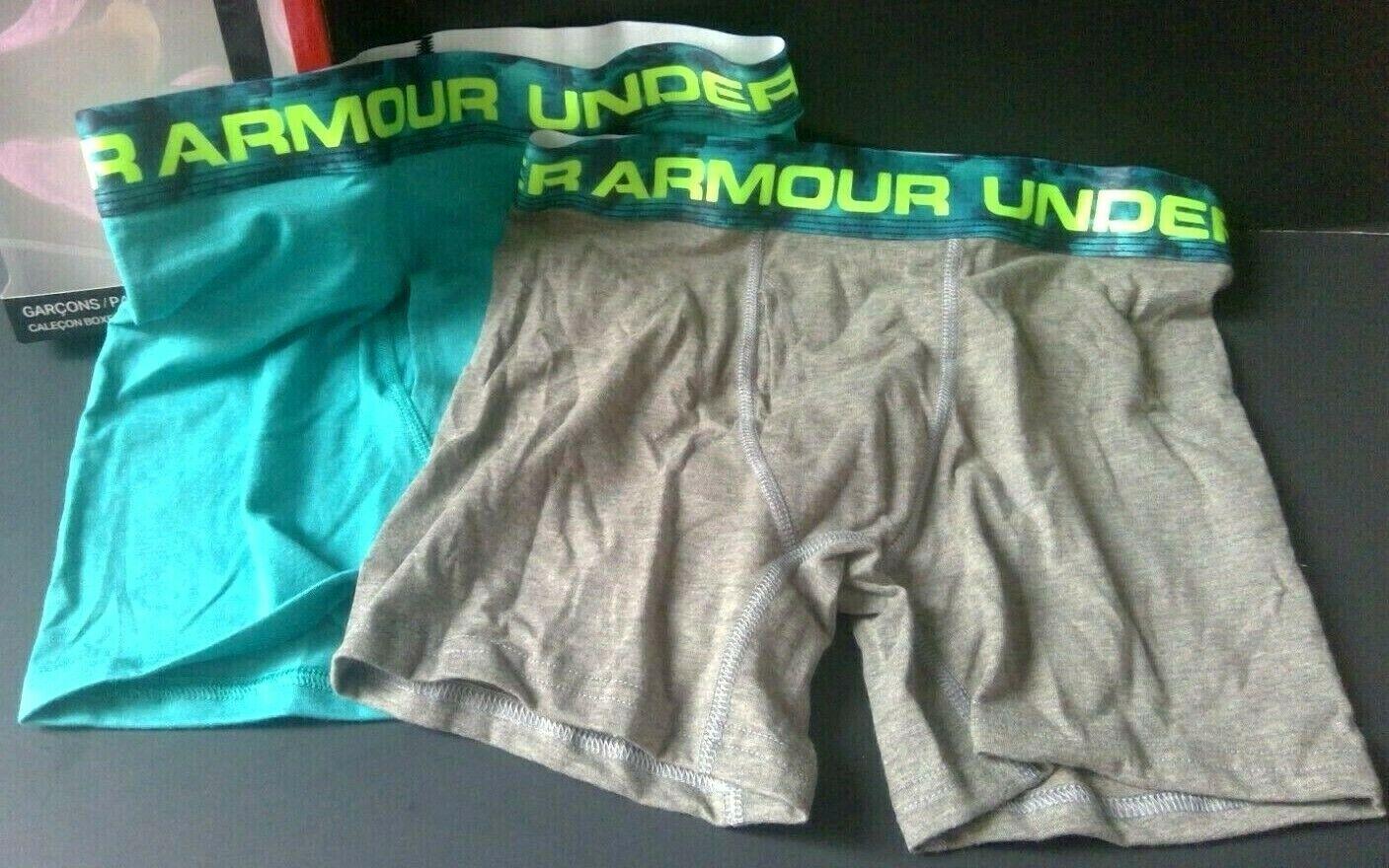 Boys Size M Boxer Briefs 2 Pair UNDER ARMOUR YOUTH Underwear