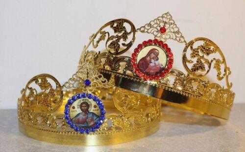 Christian Orthodox Church Pair Wedding Crowns
