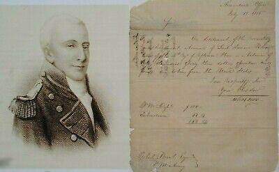 Tobias Lear Secretary To George Washington, At His Deathbed, Envoy,  Autograph
