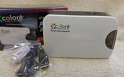 - Colore Personal Compact Electric Pencil Sharpener USB or Battery Power 170130