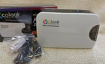 Colore Personal Compact Electric Pencil Sharpener Usb Or Battery Power 170130