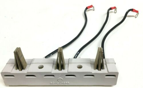 "GE Series 8000 General Electric 601C476P3 12"" MCC Bucket Stab Base & Wires 8 AWG"
