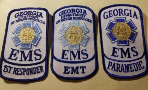 State of GEORGIA Emergency Medical Services Patches - Set of 3      ***NEW***