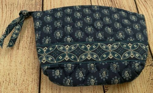 Vera Bradley Cosmetic Bag in Seaport Navy - Make-up Case - Fall 2002- Paisley