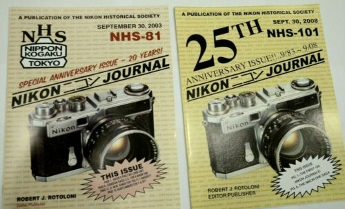 A pair of Nikon Historical Society Journals: Anniversary Special