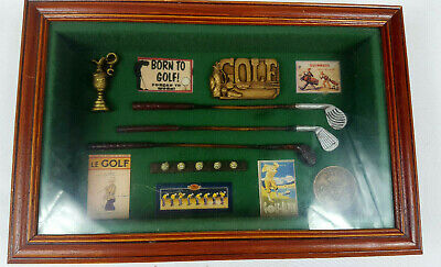 Golf Memorabilia Shadow Box 3D Picture Frame Gift Prize Trophy Award Golf Gift