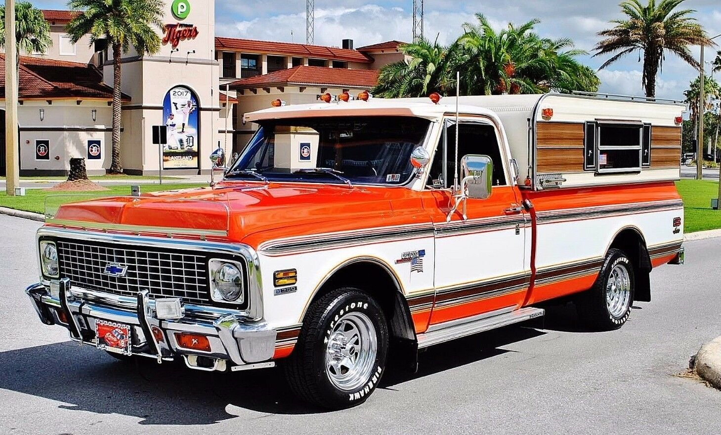 1972 Chevrolet C-10 Custom Pickup Fully Restored Show Truck Power Steering Power Brakes 350 V8 Automatic Fully Detailed Engine Bay