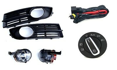 Fog Light+Grille + Cable Loom +Light Switch with Car F. VW Touran 03-10