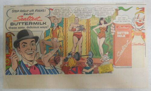Sealtest Dairy Ad: Buttermilk Circus Side Show ! from 1954 Size: 7.5 x 15 inches