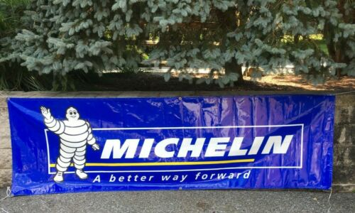 Michelin Man Tire Advertising Banner Vinyl Sign A Better Way Forward Tires