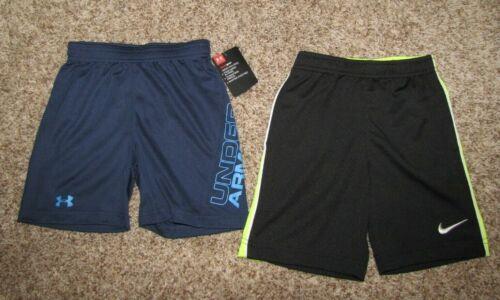 Nike & Under Armour Boys 4T Shorts Black Blue