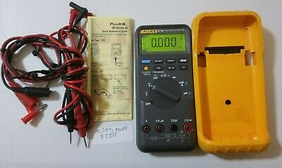 Used Fluke 87 Iii True Rms Multimeter With Test Leads Tp 239567
