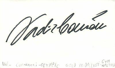 Nadia Comaneci Olympic Gold Medalist Gymnastics Autographed Signed Index Card for sale  Park Ridge