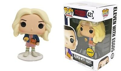 Funko Pop TV Stranger Things: Eleven w/ Eggos Figure 13318 CHASE LIMITED EDITION